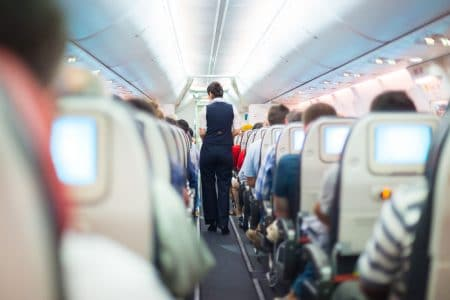 Innenraum Flugzeug