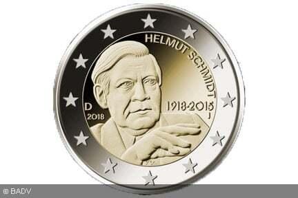 2 Euro Münze Helmut Schmidt